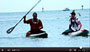 Conner Baxter & Dave Kalama at finish of Molokai 2 Oahu 2012